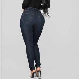 Fashion Nova Classic High Rise Skinny Jeans Dark